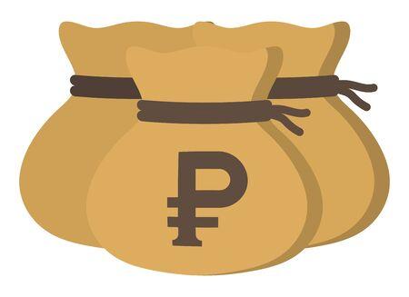 Money drawstring bags (russian ruble)