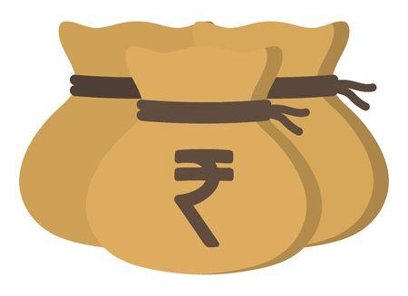 Money drawstring bags (indian rupee)