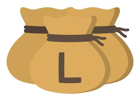 Money drawstring bags ( honduran lempira ) 向量圖像
