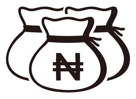 Money drawstring bags ( nigeria naira )