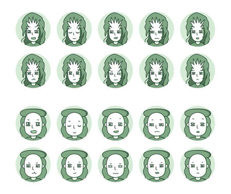 Two people icon (green) Expression variation 7