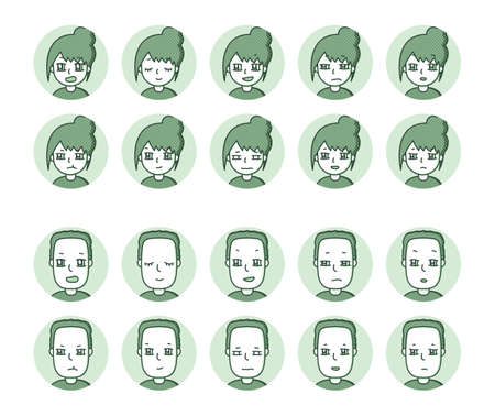 Two people icon (green) Expression variation 9