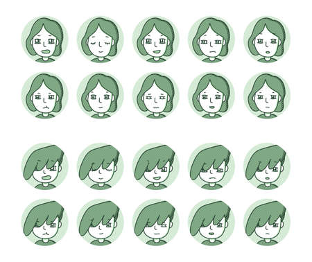Two people icon (green) Expression variation 19