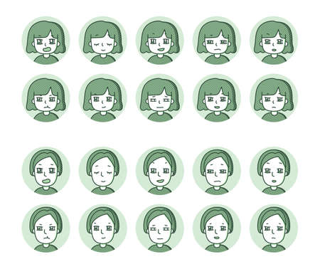 Two people icon (green) Expression variation 23