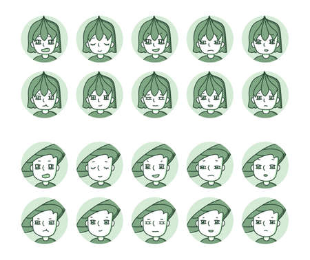 Two people icon (green) Expression variation 29