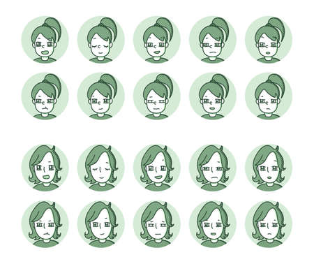 Two people icon (green) Expression variation 32