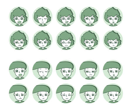 Two people icon (green) Expression variation 33