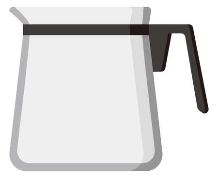 a coffee server isolated vector illustration
