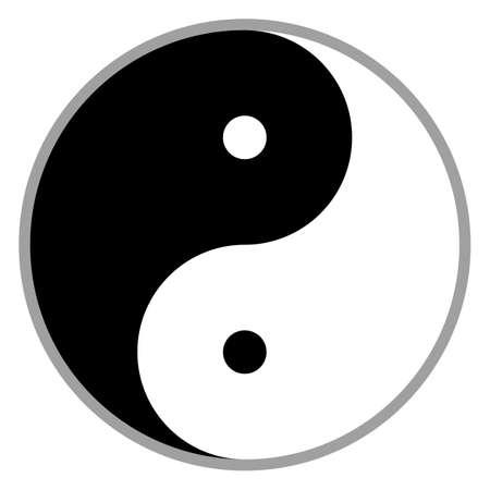 A yin yang symbol isolated vector illustration