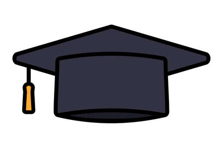 Doctor's hat isolated vector illustration.