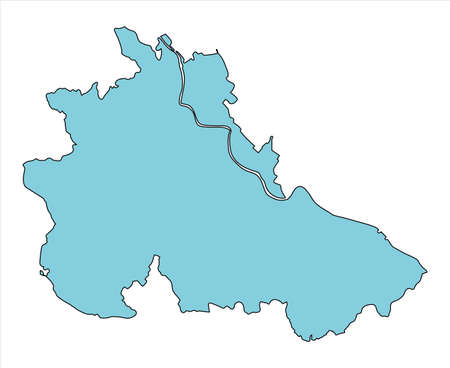 Map of Mito City, Ibaraki Prefecture, Japan.