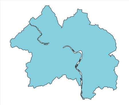 Map of Soja City, Okayama Prefecture, Japan.