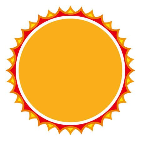 The sun isolated vector illustration.