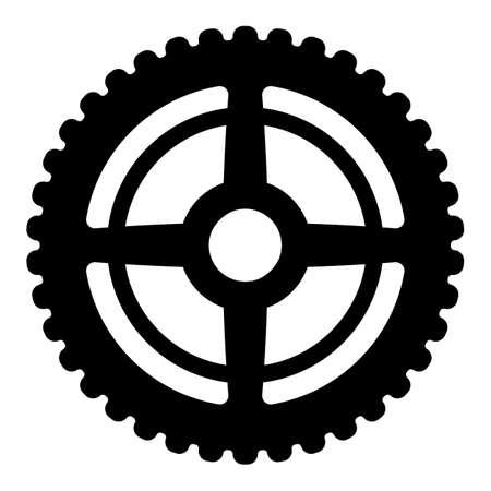 A gear isolated vector illustration. Vecteurs