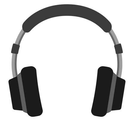 A headphone isolated vector illustration.