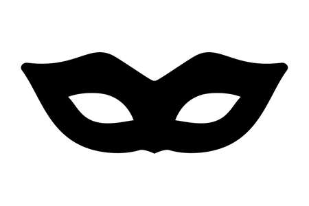 Black mask isolated vector illustration.