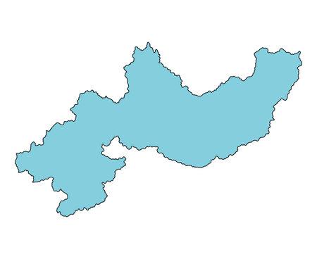 Map of Koka City, Shiga Prefecture, Japan. Vektorové ilustrace
