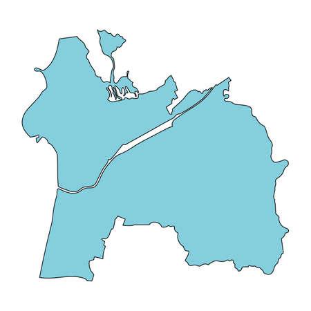 Map of Hakui City, Ishikawa Prefecture, Japan.
