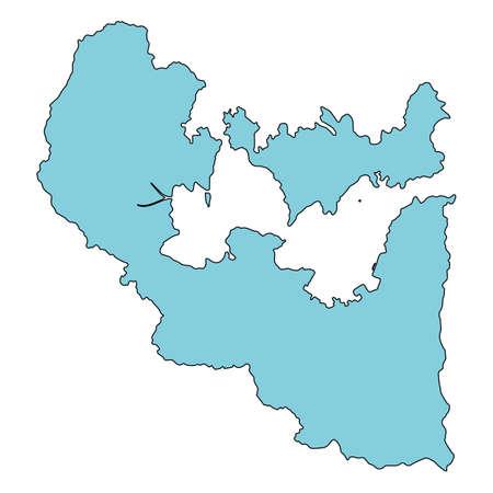 Map of Nanao City, Ishikawa Prefecture, Japan.
