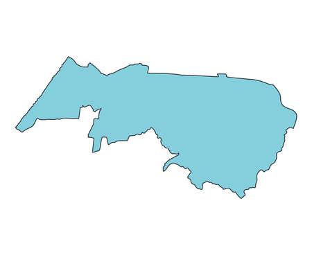 Map of Nomi City, Ishikawa Prefecture, Japan. Vektorové ilustrace