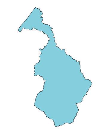 Map of Hakusan City, Ishikawa Prefecture, Japan.