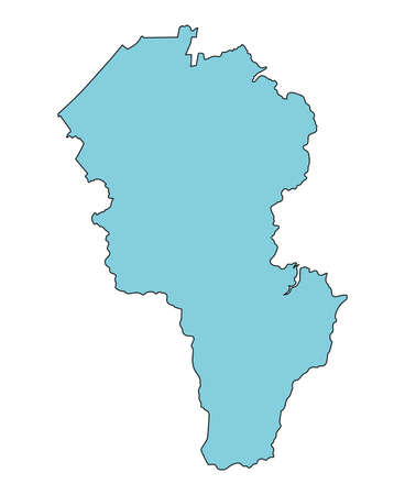 Map of Komatsu City, Ishikawa Prefecture, Japan.