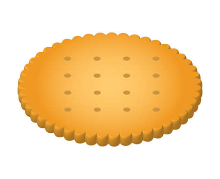 A biscuit isolated vector illustration.
