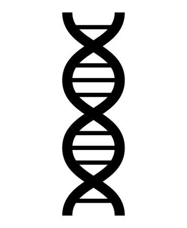 Deoxyribo nucleic acid isolated vector illustration.