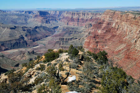 グランド ・ キャニオンの美しい風景 写真素材