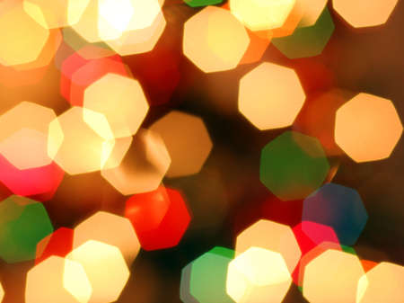 happieness: Happy and coloureful Christmas lights background Stock Photo