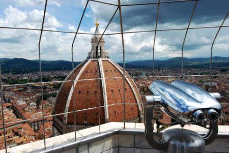 vue ville: Belle vue sur la ville de Florence (Firenze, Italie) � partir de la tour de la ville