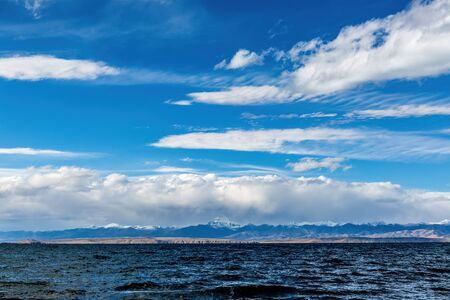 Lake Manasarovar with Mount Rinpoche scenery