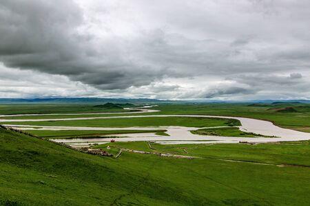 Gannan Hongyuan Yellow River Jiuqu scenery