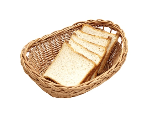 bread in a wicker basket photo