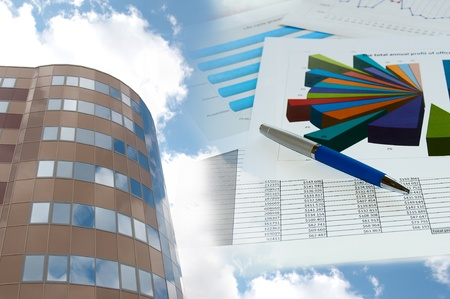 Office building and official papers Stock Photo - 9741234