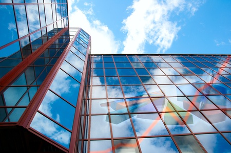 On office building charts showing growth and prosperity in business are shown Stock Photo - 9741816