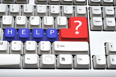 Keyboard - with a big HELP, Sign on a question