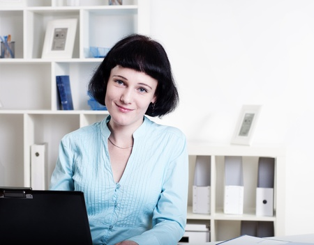 Portrait of a business woman in the office Stock Photo - 11857235