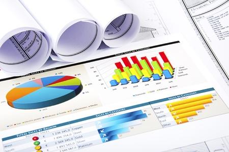 Dessins et diagrammes d'activité réussie, le lieu de travail de l'entrepreneur