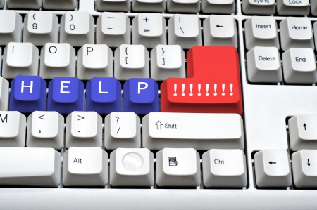 Keyboard - with a big HELP word photo