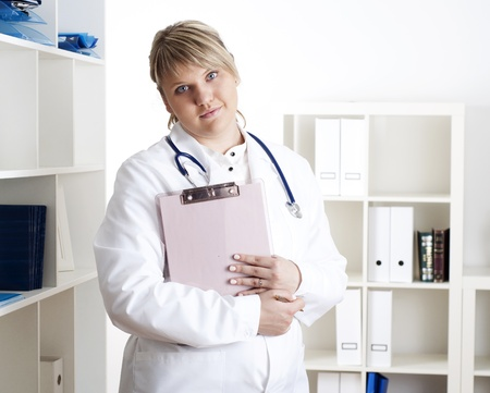 portrait of a young woman doctor photo