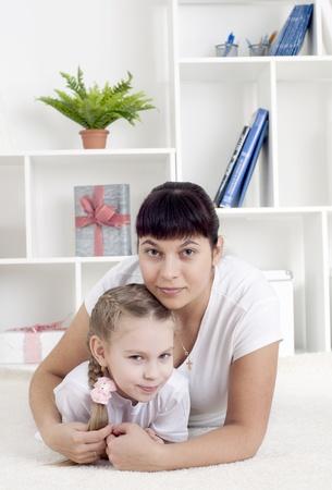 Portrait of happy family photo