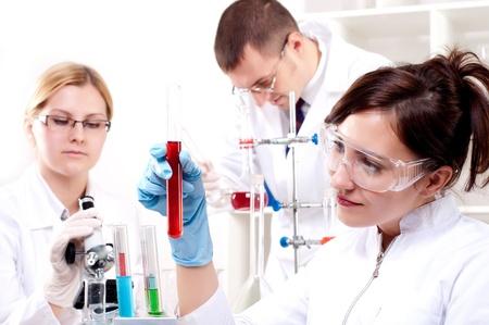 chemist: portrait of a beautiful woman chemist Stock Photo