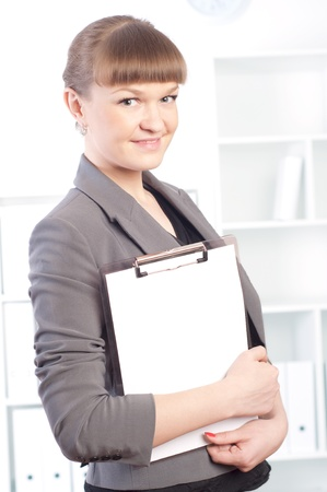 woman works in the office Stock Photo - 13844026