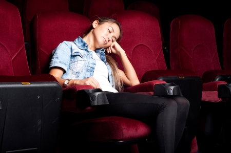 sleep in cinema photo