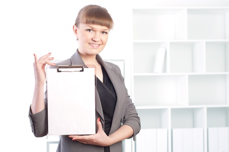 woman works in the office Stock Photo - 13876885