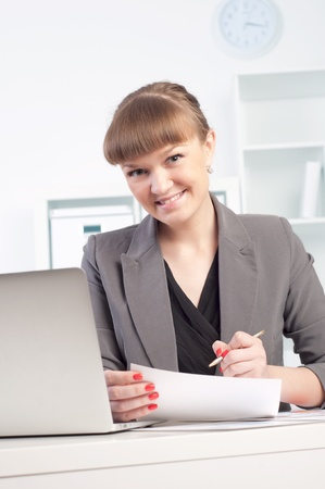 woman works in the office Stock Photo - 13876894