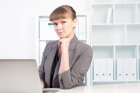 woman works in the office photo