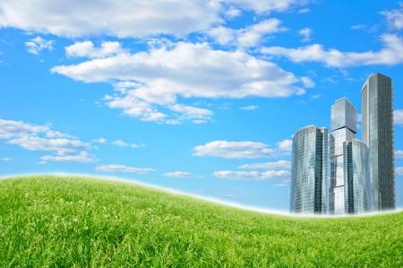 modern city and landscape photo