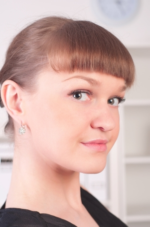 portrait of a beautiful young woman who works in the office Stock Photo - 14737429